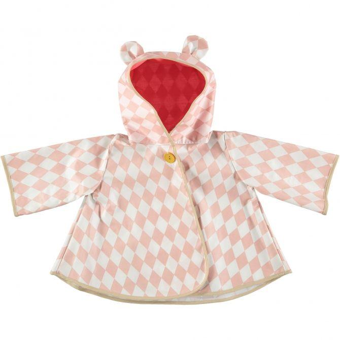 Nobodinoz Płaszcz przeciwdeszczowy Venezia różowe romby