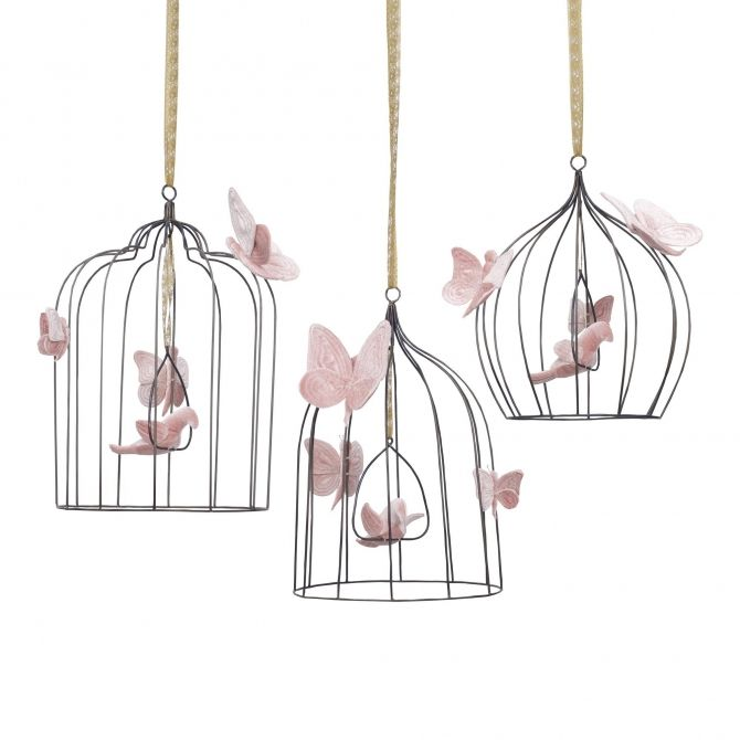Decoration Bohemian Birdcage dusty pink - Numero 74