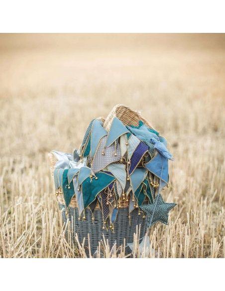 Girlanda Bunting mix blue - Numero 74