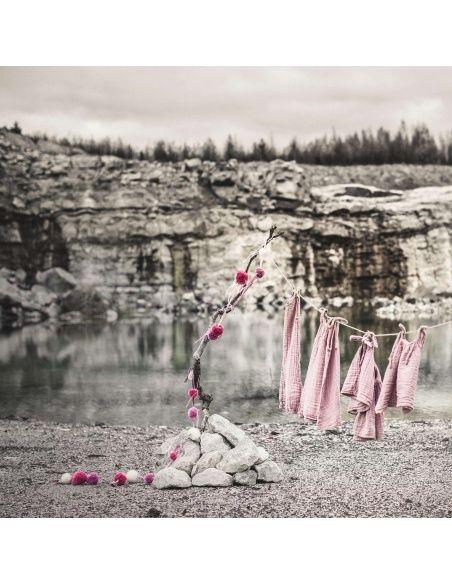 Girlanda Pompom mix różowa - Numero 74