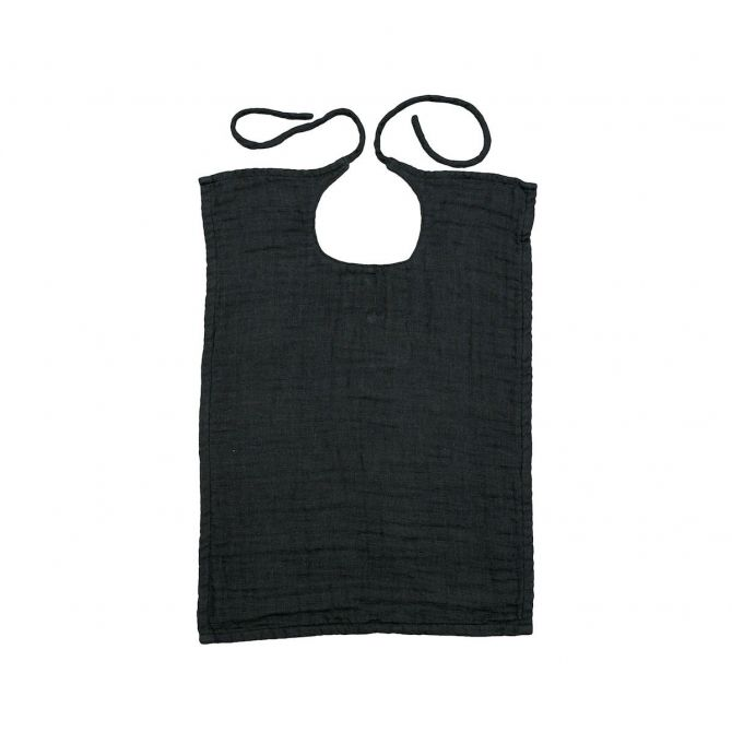 Baby Bib Square dark grey - Numero 74
