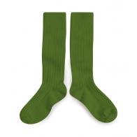 Podkolanówki Kale Pois Gourmand zielone