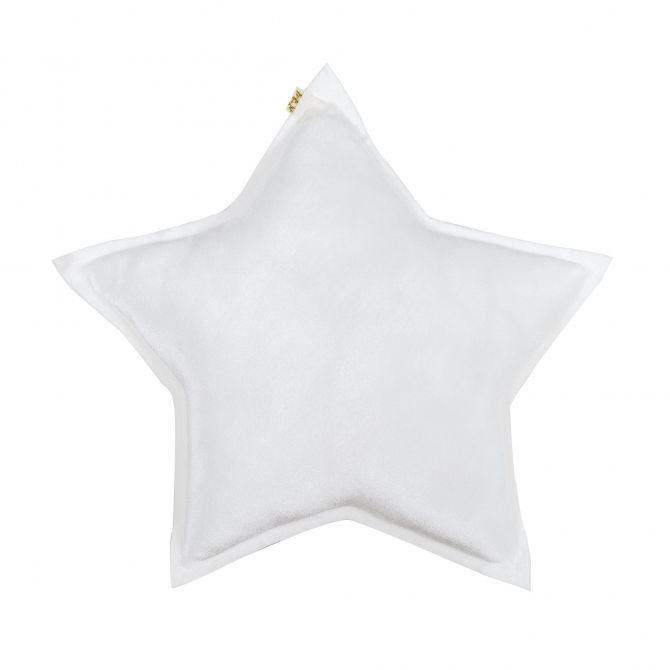 Numero 74 Poduszka Gwiazda Velvet biała