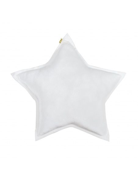 Numero 74 Star Velvet Cushion white