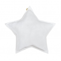 Star Velvet Cushion white