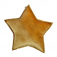 Star Velvet cushion gold