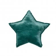 Star Velvet Cushion teal blue