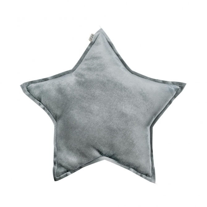Numero 74 Star Velvet Cushion silver grey