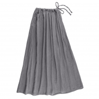 Skirt for mum Ava long stone grey