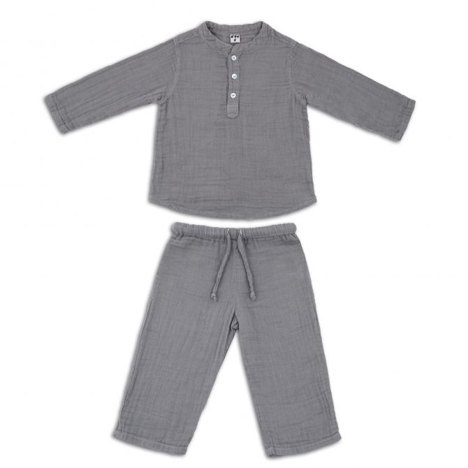 Suit Dan shirt & pants stone grey - Numero 74