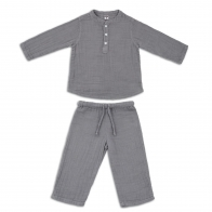 Suit Dan shirt & pants stone grey