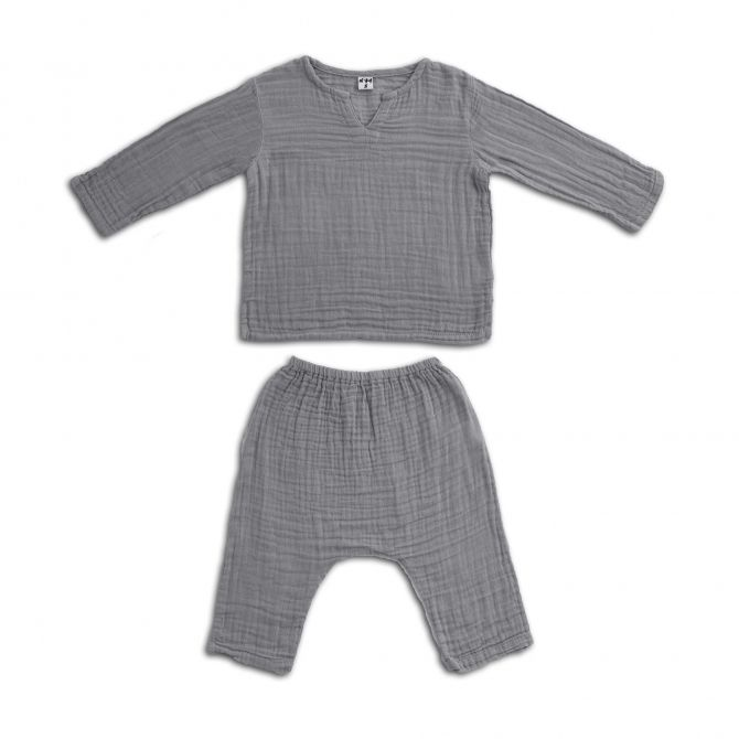 Numero 74 Suit Zac shirt & pants stone grey