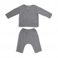 Komplet Zac koszulka & spodnie kamienny szary