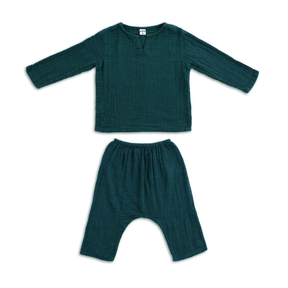 Suit Zac shirt & pants teal blue - Numero 74