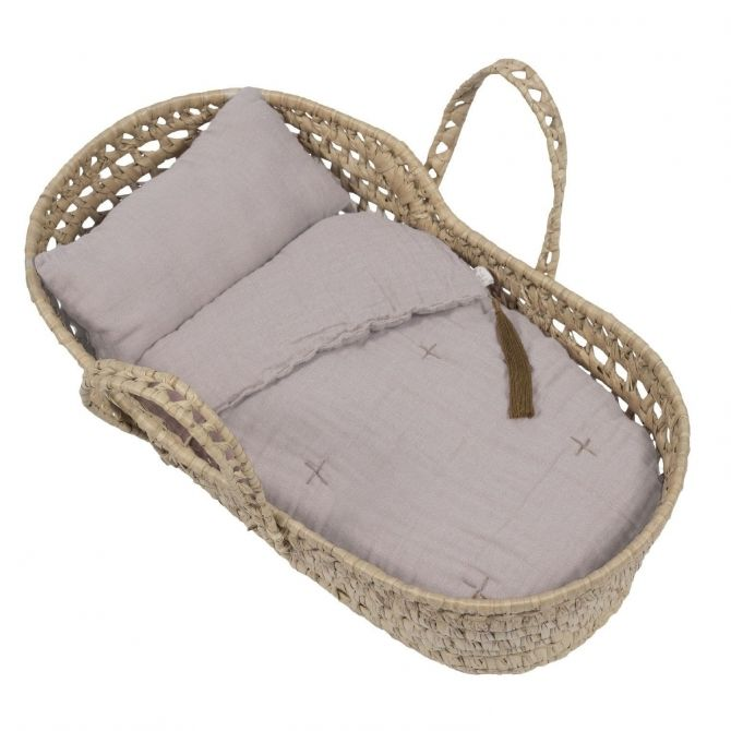 Numero 74 Doll Basket Bed Linen powder