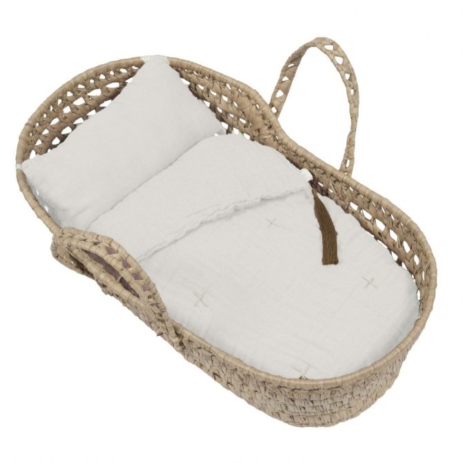 Numero 74 Doll Basket Bed Linen natural