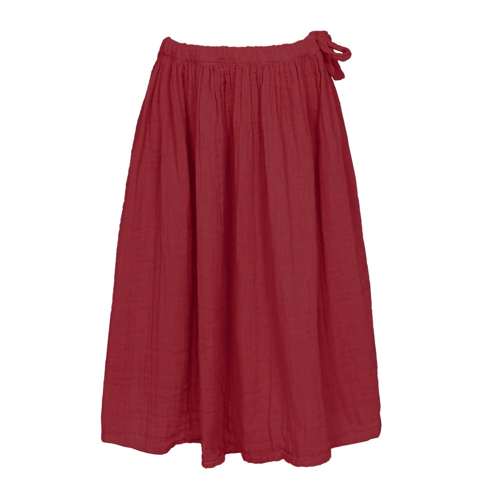 Skirt for girls Ava long ruby red