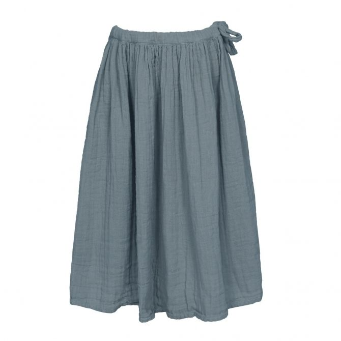 Numero 74 Spódnica dla dziewczynek Ava długa szaroniebieska