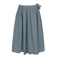 Spódnica dla dziewczynek Ava długa szaroniebieska