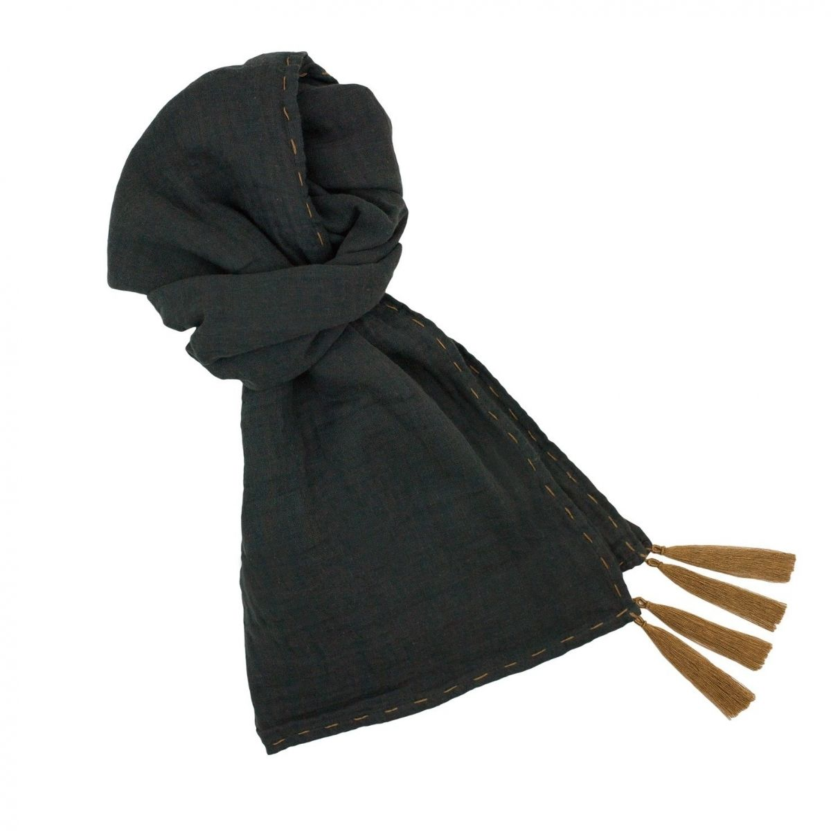 Numero 74 Scarf flashy dark grey