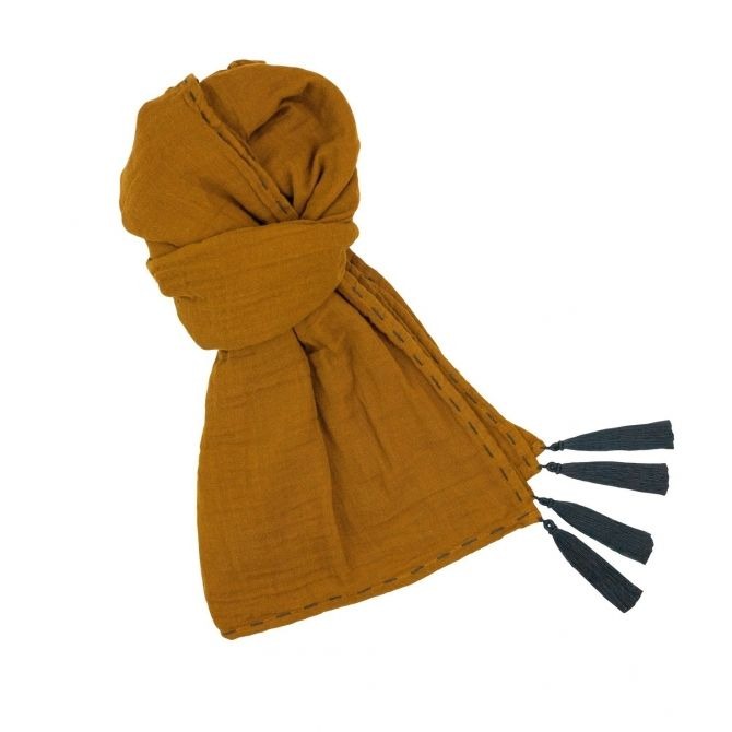 Numero 74 Scarf flashy gold