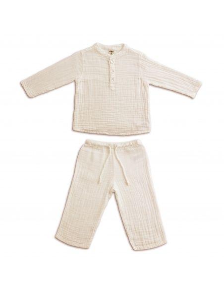Komplet Dan koszulka & spodnie waniliowy - Numero 74