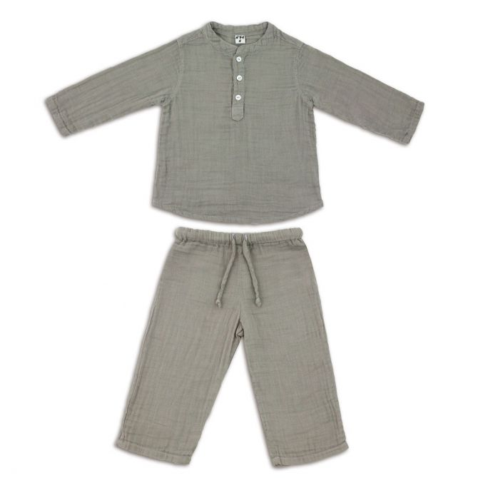 Suit Dan shirt & pants silver grey - Numero 74