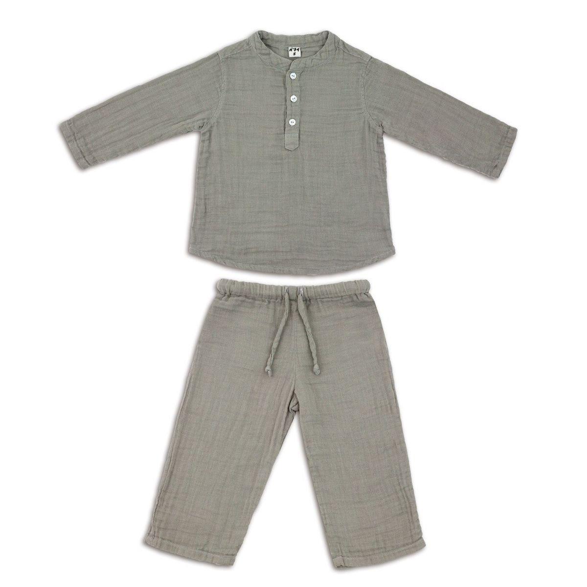 Suit Dan shirt & pants silver grey - Numero 74