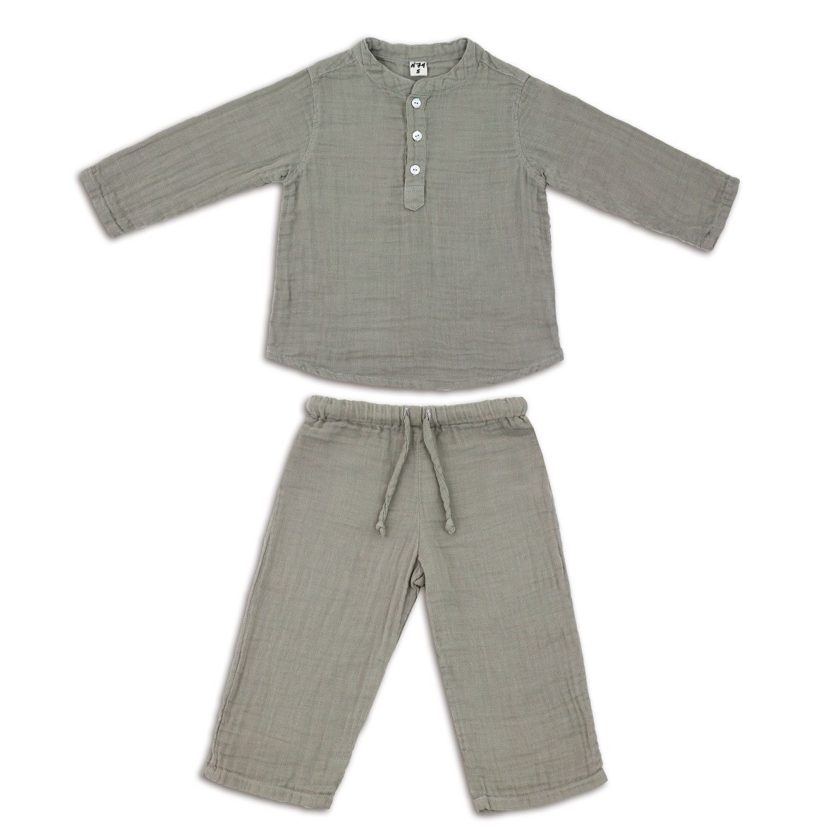Komplet Dan koszulka & spodnie szary