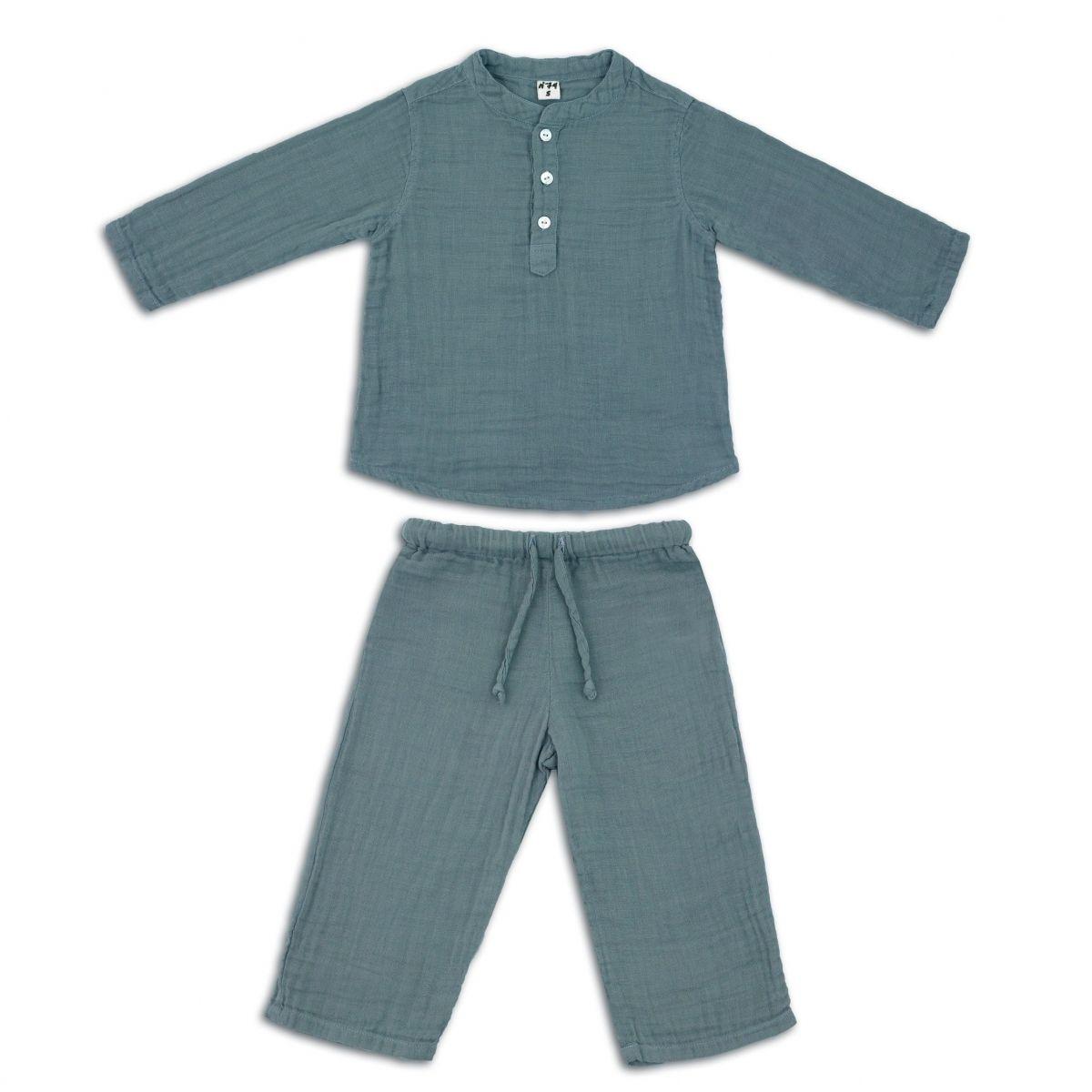Suit Dan shirt & pants ice blue - Numero 74