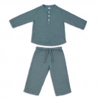 Komplet Dan koszulka & spodnie szaroniebieski