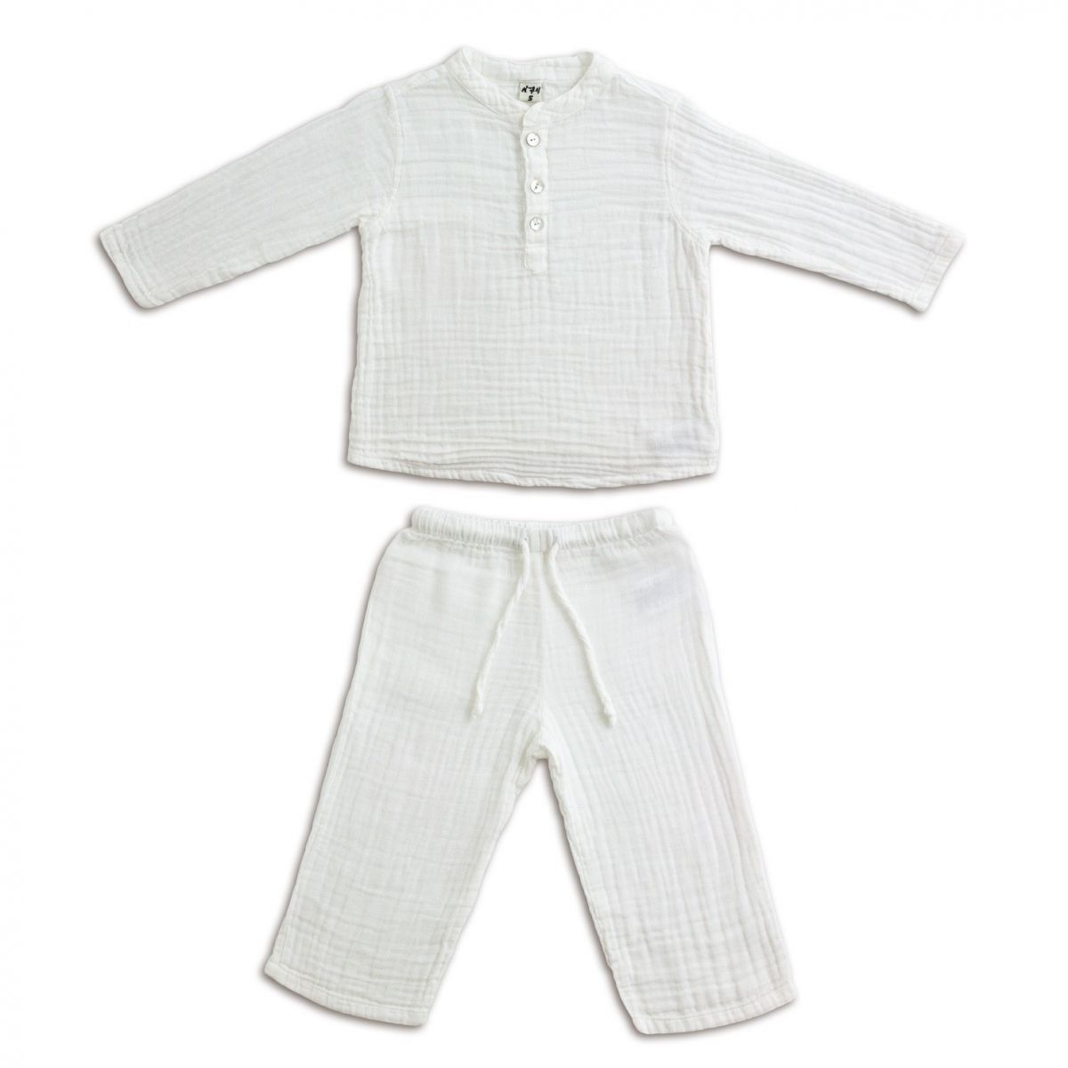 Suit Dan shirt & pants white - Numero 74