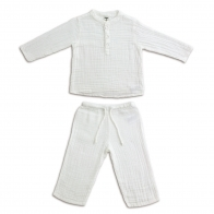 Suit Dan shirt & pants white