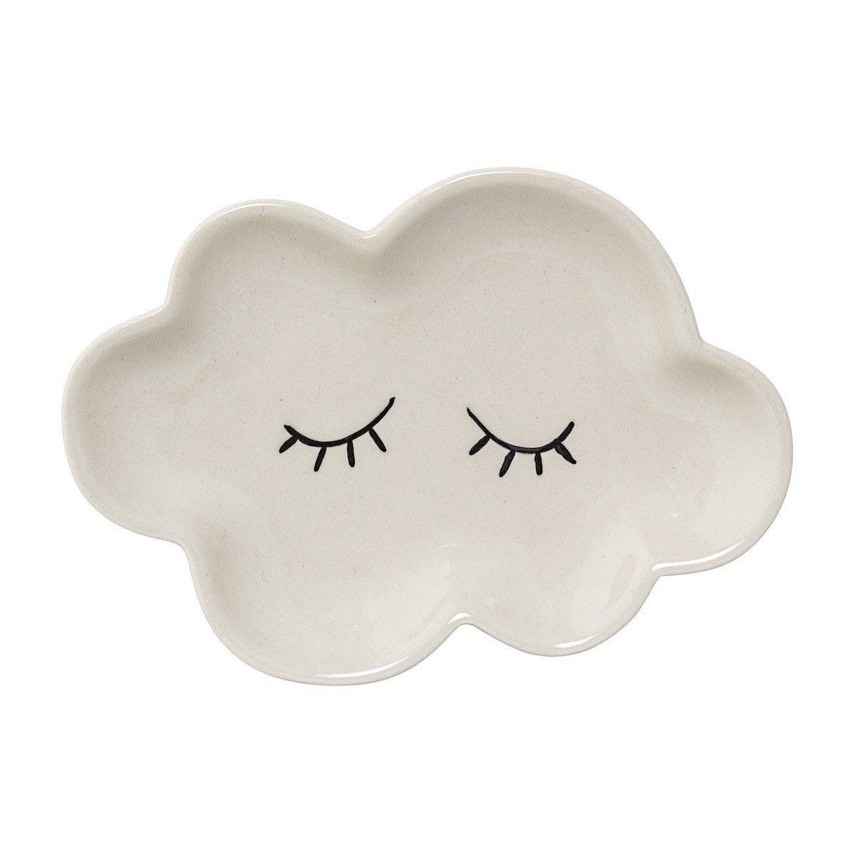 Bloomingville Plate Cloud Smilla white