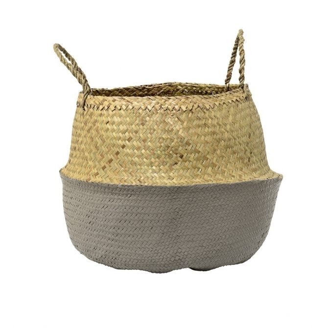Basket grey seagrass - Bloomingville