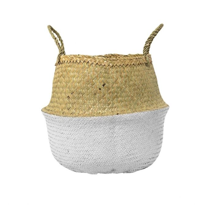 Basket white seagrass - Bloomingville