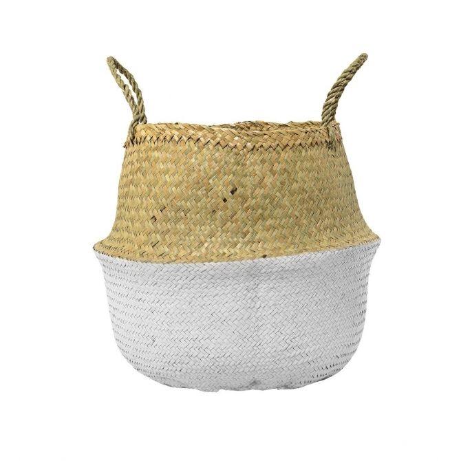 Koszyk biały trawa morska - Bloomingville
