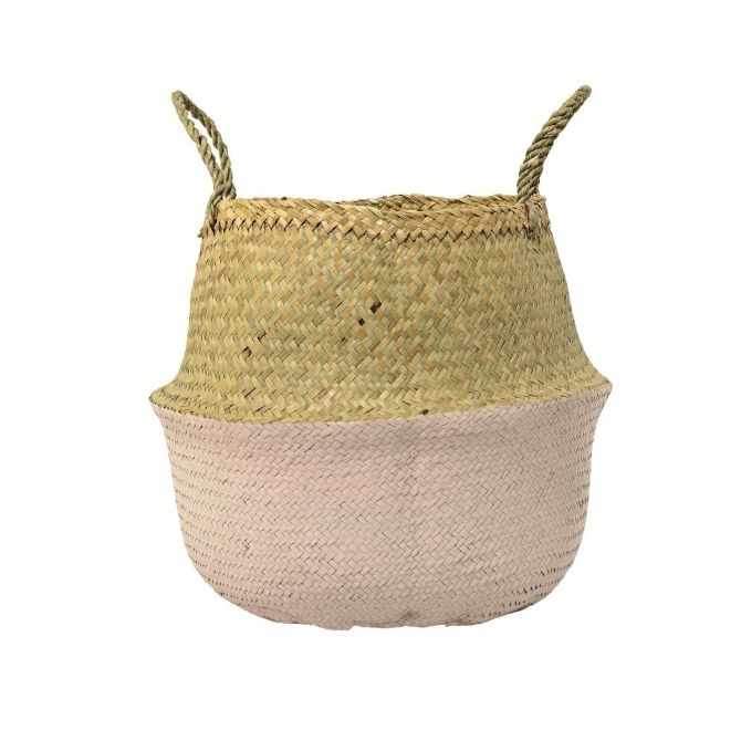 Bloomingville Basket Seagrass pink