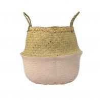 Basket Seagrass pink