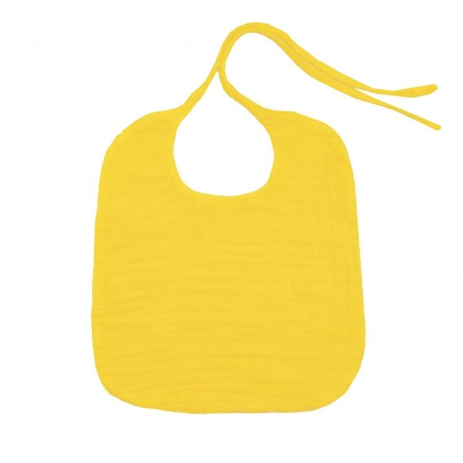 Baby Bib Round sunflower yellow - Numero 74