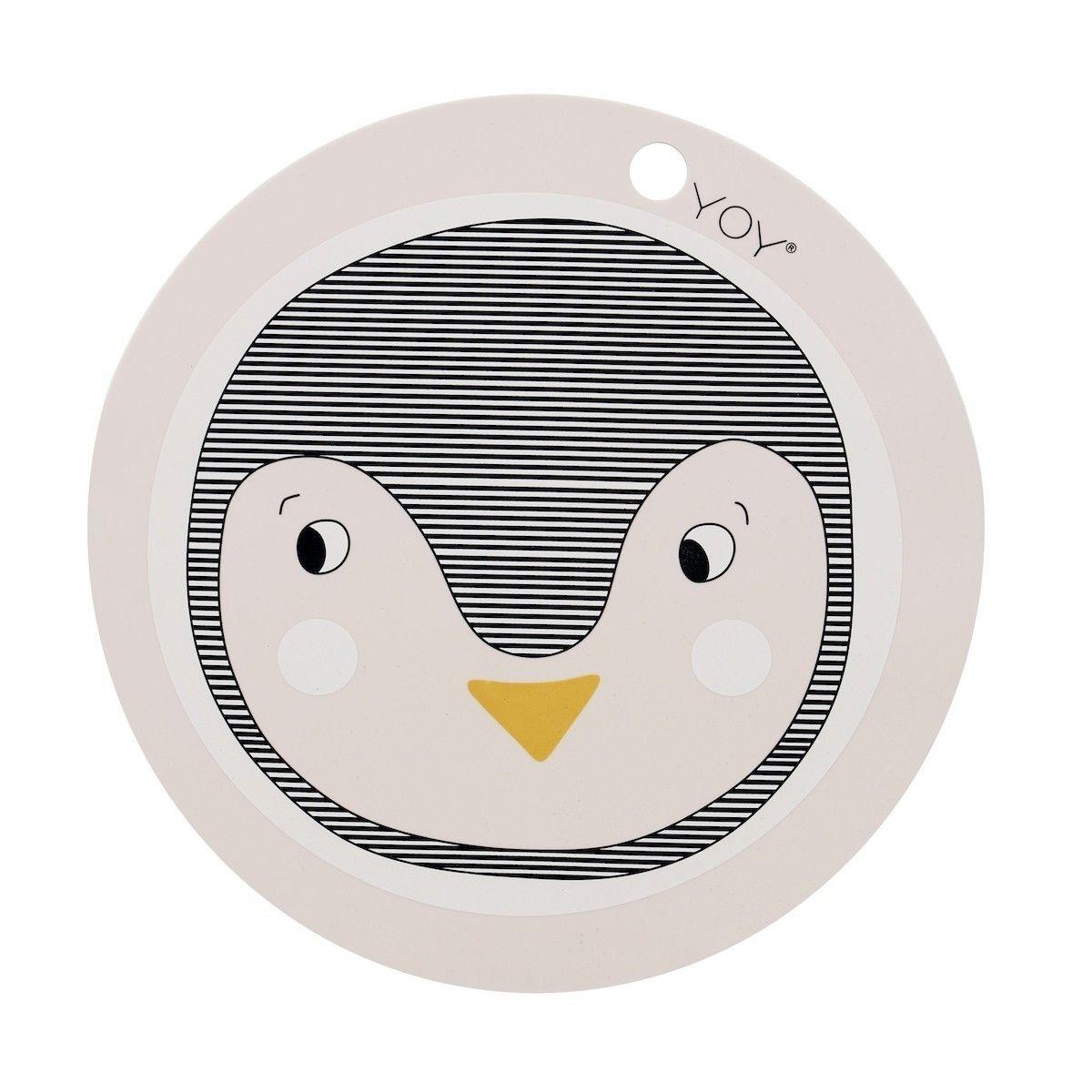OYOY Podkładka pod talerz Pingwin