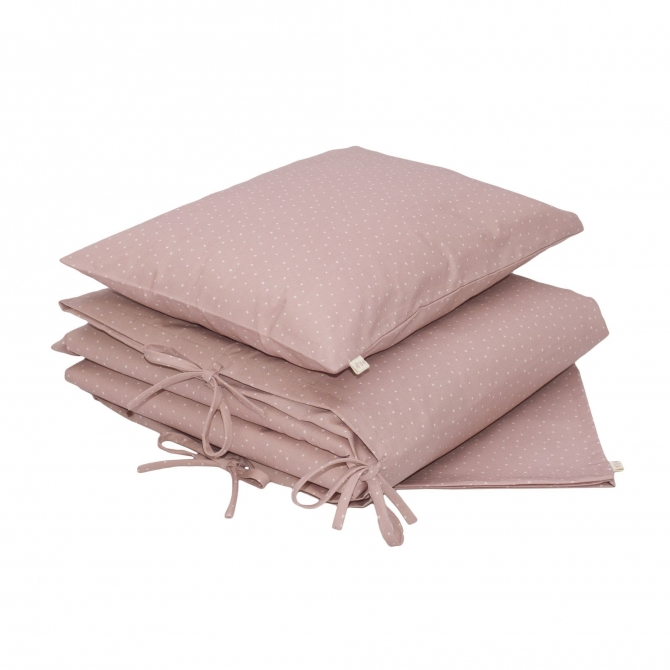 Duvet Cover Set Stars dusty pink - Numero 74