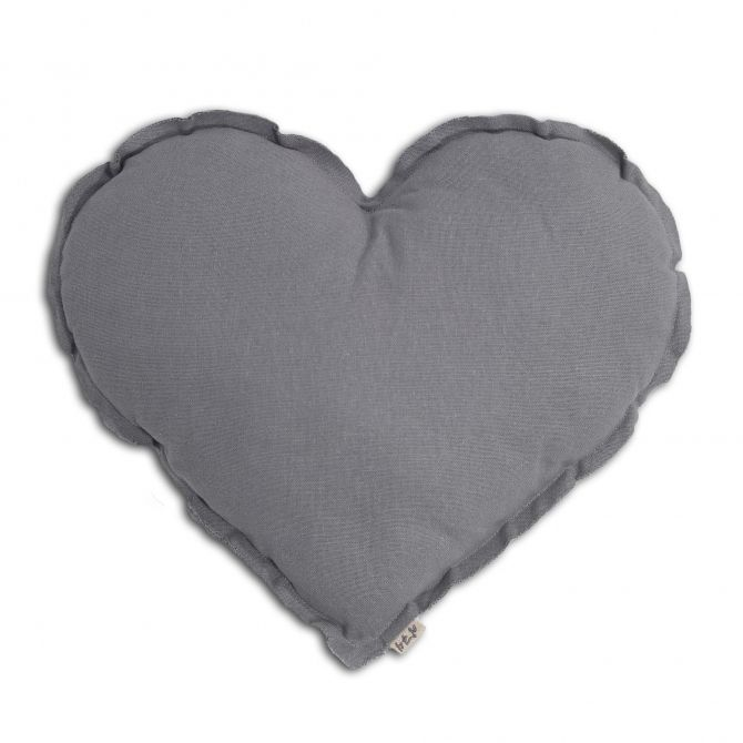 Numero 74 Heart Cushion stone grey