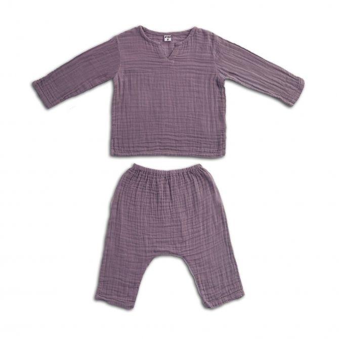 Numero 74 Komplet Zac koszulka & spodnie zgaszony fiolet