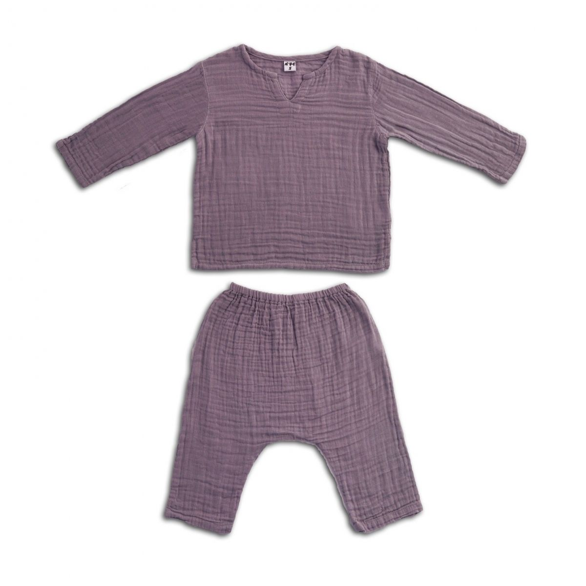 Suit Zac shirt & pants dusty lilac - Numero 74