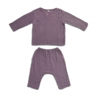 Suit Zac shirt & pants dusty lilac