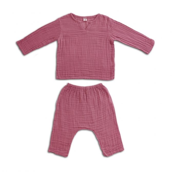 Numero 74 Suit Zac shirt & pants baobab rose