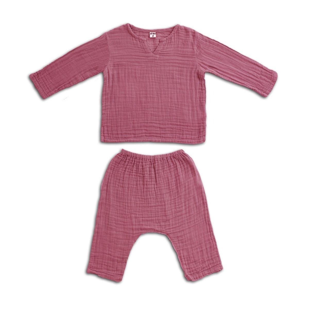 Numero 74 Komplet Zac koszulka & spodnie malinowy