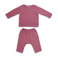 Komplet Zac koszulka & spodnie malinowy
