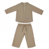 Suit Dan shirt & pants beige